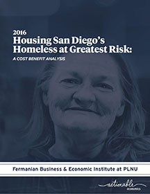 2016 Housing San Diego's Homeless at Greatest Risks Report Cover