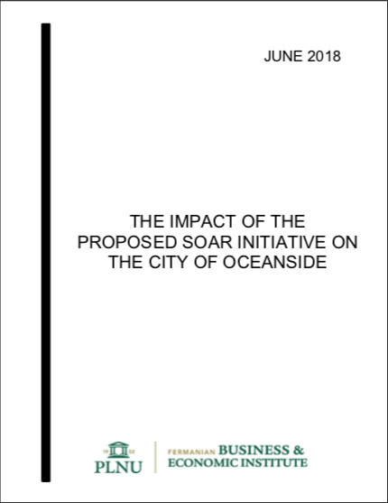 Cover page of the Impact of the Proposed Soar Initiative on the City of Oceanside