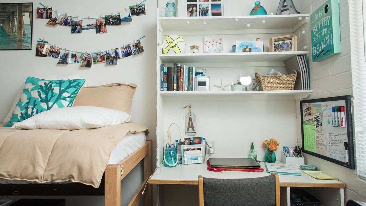 A Neatly Decorated Bedroom In Hendricks Hall