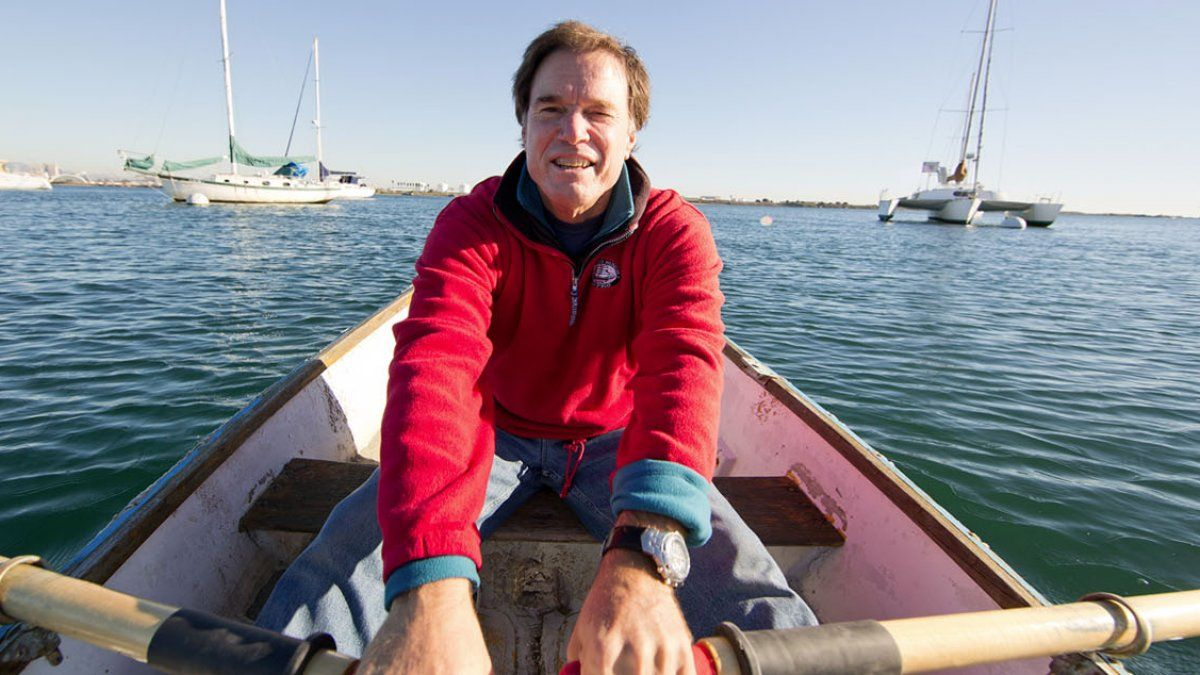 Dr. Rick Kennedy Rowing a Boat