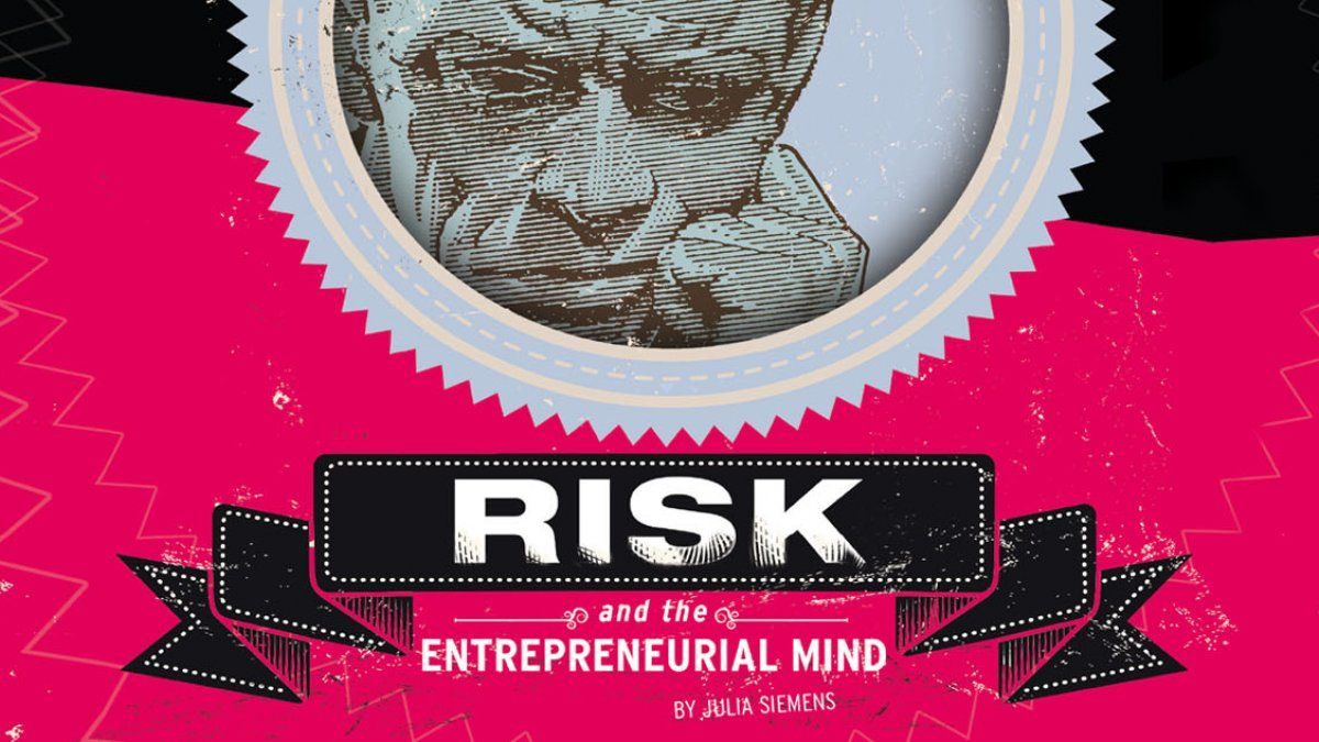 Risk and the Entrepreneurial Mind banner, man contemplates what to do next