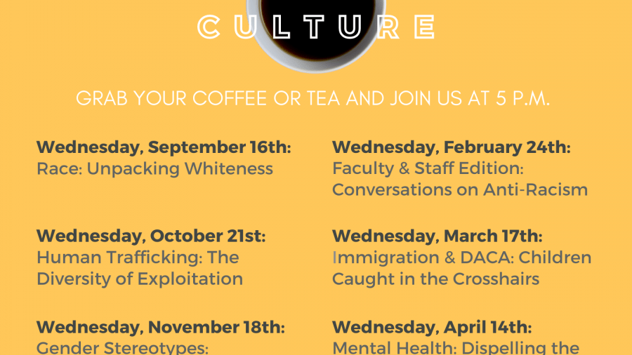 Cup of Culture Series dates and topics