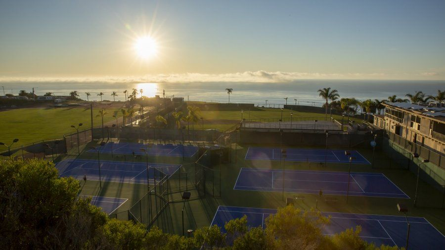 Sunset view overlooking PLNU athletic facilities