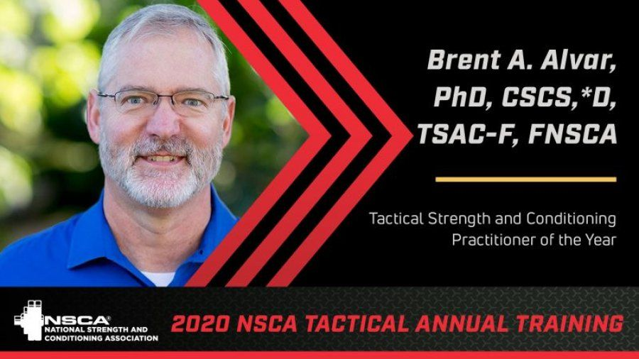 Photo of Dr. Brent Alvar, the NSCA's Tactical Strength and Conditioning Practitioner of the Year awardee for 2020