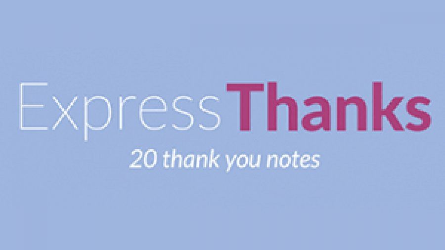 Express Thanks 20 thank you notes