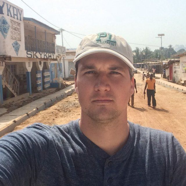 Pieter Baker on the streets of Sierra Leone