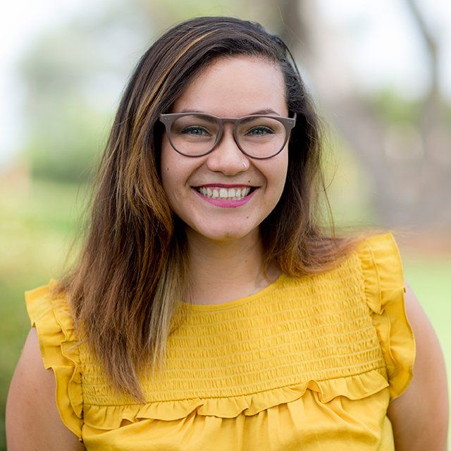 A headshot of Lexii Ibarra - UGA Admissions Counselor - smiling