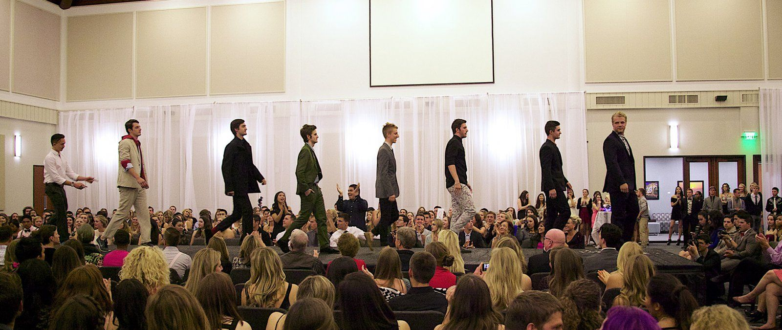 PLNU Student Walking on Stage for Fashion Show