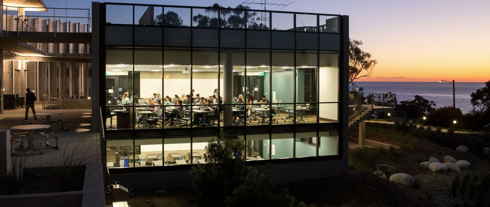 PLNU's Science Building at Dusk