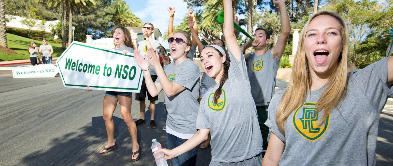 Current students welcome incoming students and their families to PLNU.