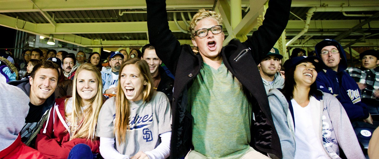 Transfer student scream for the Padres at Petco Park