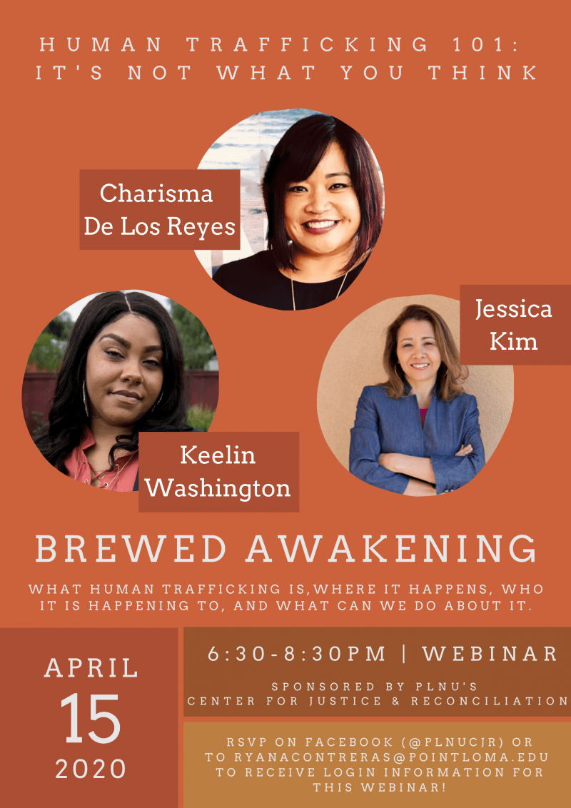 April 15, 2020 Brewed Awakening: Human Trafficking 101