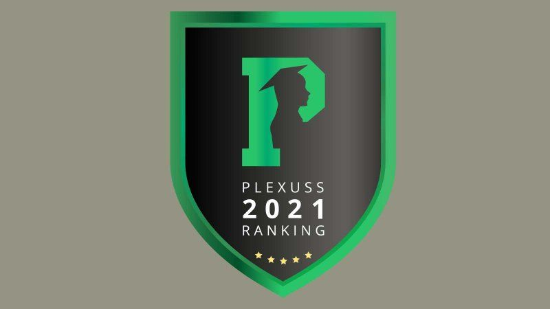 Plexuss 2021 rankings badge