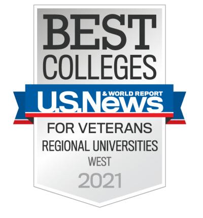 Best College for Vets 2021 Badge